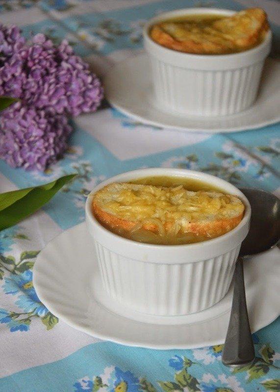 Francuska Zupa Cebulowa Danie Zupy Kuchnia świata